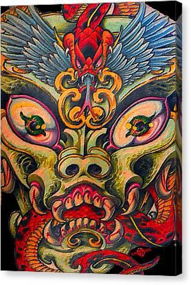 Dragon Tattoo Painting Canvas Print
