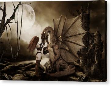 Dragon Whispers  Canvas Print by Shanina Conway