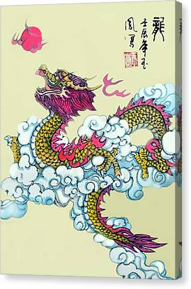 Canvas Print featuring the photograph Dragon by Yufeng Wang