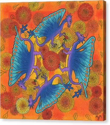 Dragondala Fall Canvas Print by Mary J Winters-Meyer
