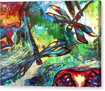 Dragonflies Abstract 3 Canvas Print by Genevieve Esson