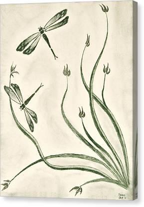 Dragonflies Canvas Print by Sean Mitchell