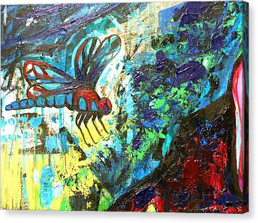 Dragonfly Abstract 1 Canvas Print by Genevieve Esson