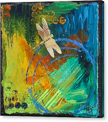 Dragonfly Abstract Canvas Print by Tracy L Teeter