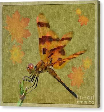 Dragonfly Art 14-3 Canvas Print by Maria Urso