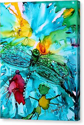 Dragonfly Blues Canvas Print