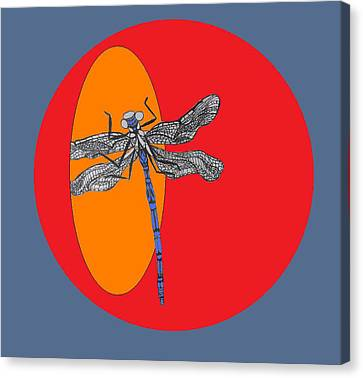 Dragonfly Canvas Print by Cherie Sexsmith