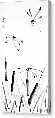 Dragonfly Dance Canvas Print