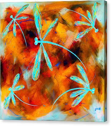Dragonfly Desert Flit Canvas Print by Lyndsey Hatchwell