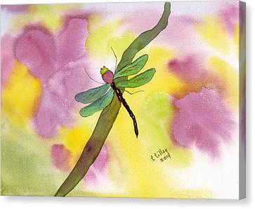 Dragonfly Dream Canvas Print by Teresa Tilley