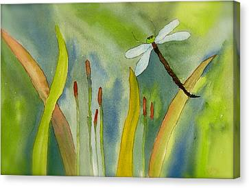 Dragonfly Fantasy Flight Canvas Print by Teresa Tilley