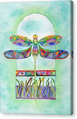Dragonfly Flight Canvas Print by Tamyra Crossley