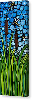 Dragonfly Pond By Sharon Cummings Canvas Print by Sharon Cummings