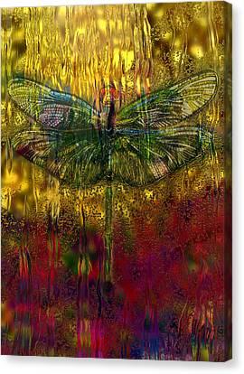 Analog Canvas Print - Dragonfly - Rainy Day  by Jack Zulli