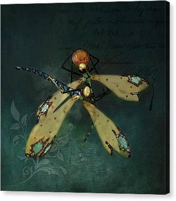 Dragonfly Romance Canvas Print