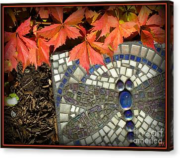 Canvas Print featuring the photograph Dragonfly Stepping Stone by Heidi Manly