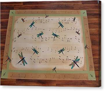 Dragonfly Symphony 64x45 Art For Your Floor Canvas Print by Cindy Micklos
