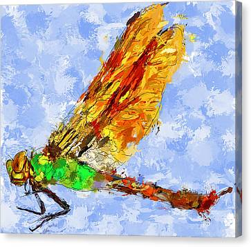 Dragonfly Thinking Canvas Print by Yury Malkov