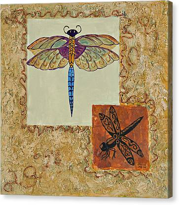 Dragonfly Two Canvas Print by Darice Machel McGuire