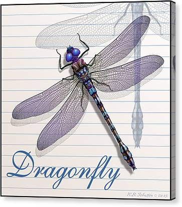Dragonfly Canvas Print by WB Johnston