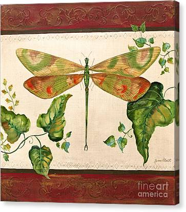 Dragonfly Whimsey Canvas Print by Jean Plout