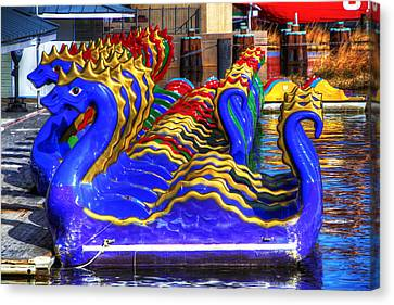 Dragons Canvas Print by David Simons