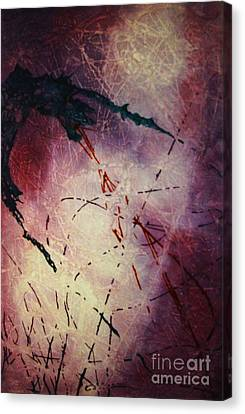 Canvas Print featuring the painting Dragons In The Mist by Stuart Engel