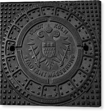 Drain Cover Cologne Germany Canvas Print by Teresa Mucha