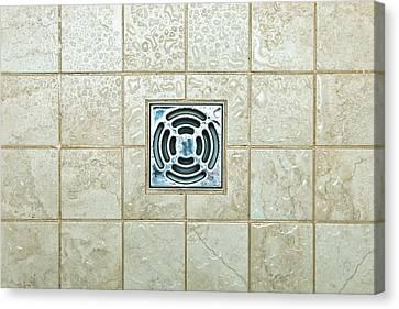 Sink Hole Canvas Print - Drain Hole by Tom Gowanlock