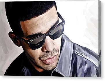 Hip Hop Canvas Print - Drake Artwork 1 by Sheraz A