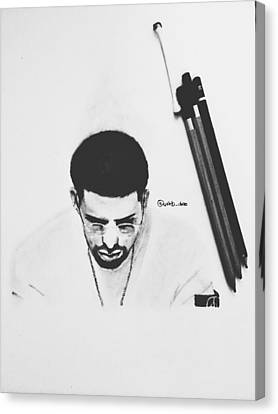 Drake Drawing Canvas Print by Caleb Tony