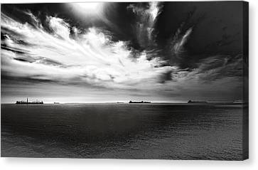 Canvas Print featuring the photograph Drama Clouds by Joseph Hollingsworth