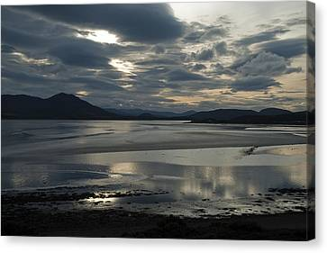 Canvas Print featuring the photograph Drama Dornoch Firth by Sally Ross