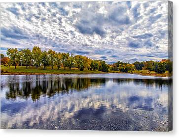 Drama In Autumn Skies Canvas Print by Bill Tiepelman