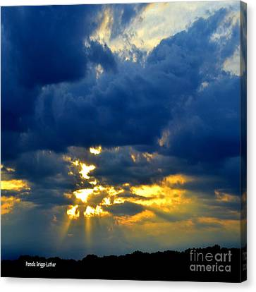 Dramatic Clouds Canvas Print by Luther Fine Art