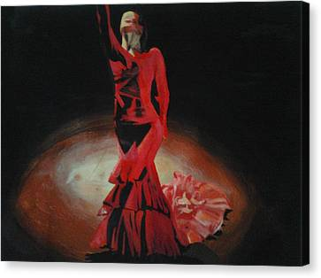 Dramatic In Scarlet Canvas Print