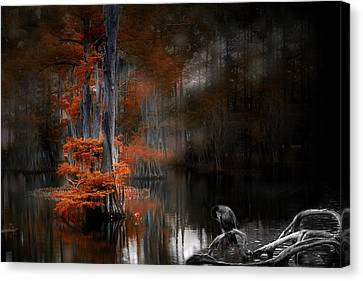 Canvas Print featuring the photograph Dramatic Lake 2 by Cecil Fuselier