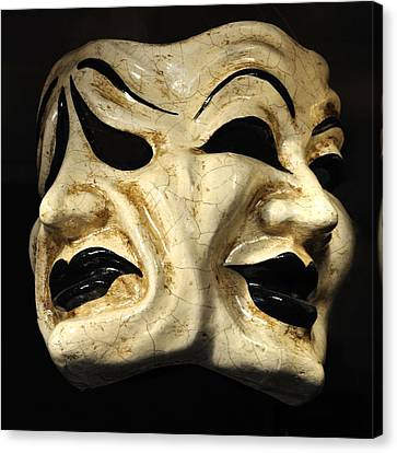 Dramatic Mask Canvas Print