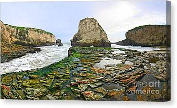 Dramatic Panoramic View Of Shark Fin Cove Canvas Print
