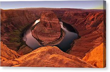 Canvas Print featuring the photograph Dramatic River Bend by David Andersen