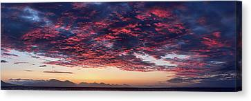 Dramatic Sky During Sunset, Southeast Canvas Print