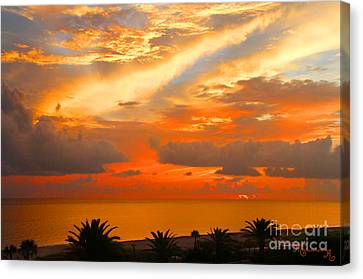 Dramatic Sunset Canvas Print