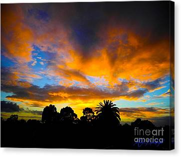 Canvas Print featuring the photograph Dramatic Sunset by Mark Blauhoefer