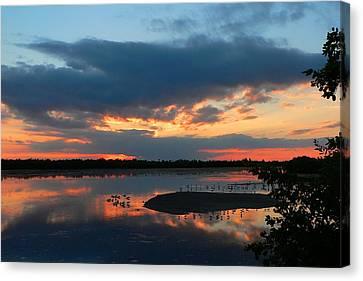 Dramatic Sunset Canvas Print by Rosalie Scanlon