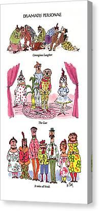 Dramatis Personae Canvas Print by William Steig