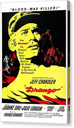 1950s Poster Art Canvas Print - Drango, Us Poster, Jeff Chandler by Everett