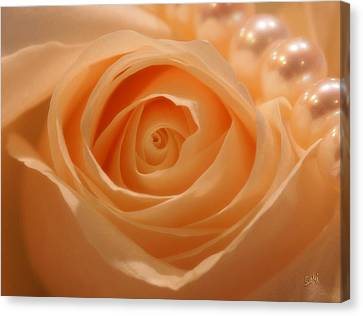 Canvas Print featuring the photograph Draped In Pearls by Sami Martin