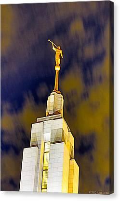 St. George Temple Canvas Print - Draper Temple 9 by Alan Nix