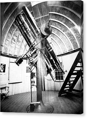 Draper's 28-inch Telescope Canvas Print by Royal Astronomical Society