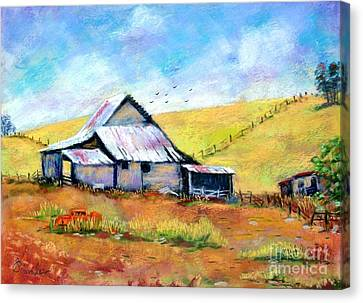Drapper Valley Barn Canvas Print by Bruce Schrader